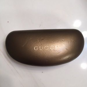 Gucci sunglasses case bronze